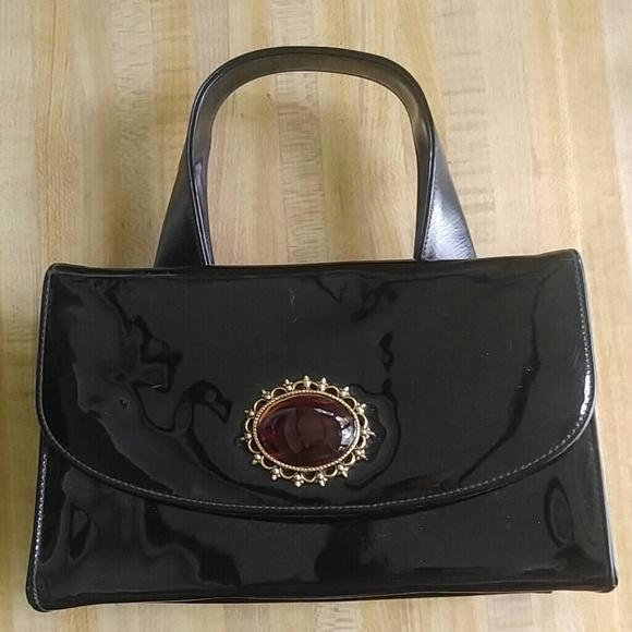 36922129517 Handbags - Vintage Patent Leather Box Handbag